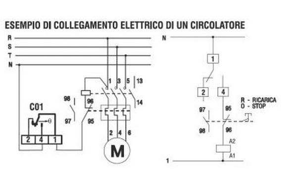 Schema Elettrico Termostato Ambiente : Termostato a contatto c per tubzaioni e centrale
